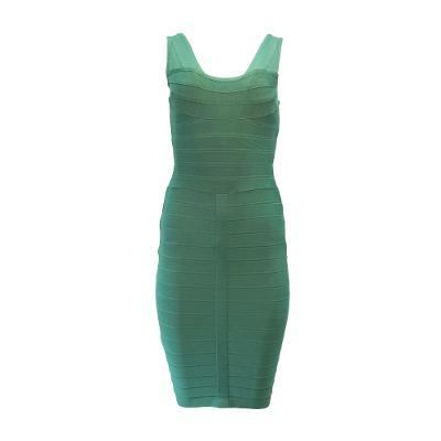 sleeveless bandage dress green